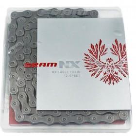 CORRENTE SRAM PC NX EAGLE 12VEL. 126 ELOS CINZA