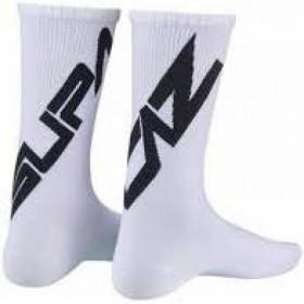 Par de meias Twisted Branca e Preto - M