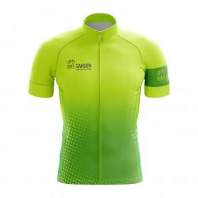 2022 Bike Garden Hyper Green Cycling Jersey